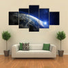 A Heavenly View Of Earth From Outer Space Multi Panel Canvas Wall Art