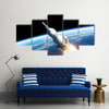 A 3D Space Launch System In An Ignition Mode Multi Panel Canvas Wall Art