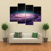3D Illustration Of A Deep Galaxy In The Space Multi Panel Canvas Wall Art