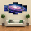 Milky Way With A Colorful Spiral Galaxy Multi Panel Canvas Wall Art