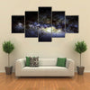 When It Is Night InKenya, Africa Multi Panel Canvas Wall Art