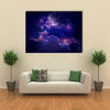 The Galaxy With Stars And Nebula In The Dark Space Multi Panel Canvas Wall Art