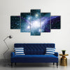 When Galaxy Stocks Its Own Stars In Space Multi Panel Canvas Wall Art