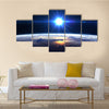 Earth Under High Resolution In The Light Of Star Multi Panel Canvas Wall Art