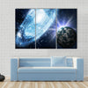 Beautiful View Stars And Galaxy In The Space Multi Panel Canvas Wall Art