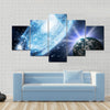 A Beautiful View Of Stars And Galaxy In The Space Multi Panel Canvas Wall Art