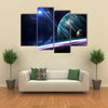 When Earth Is Aligned In The Array Of Planets In Solar System Multi Panel Canvas Wall Art Set