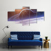 Planet With Its Orbits In The Space Multi Panel Canvas Wall Art Set