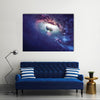 Universe Adorned With The Planets, Galaxies And Stars Multi Panel Canvas Wall Art