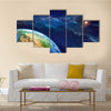 The Color Camouflaged Face Of Earth Multi Panel Canvas Wall Art