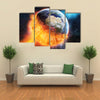 When Earth Got Sun Kissed In Outer Space Multi Panel Canvas Wall Art