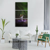 antenna night northern lights light Vertical Canvas Wall Art