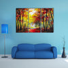 The Autumn Woods Multi Panel Canvas Wall Art