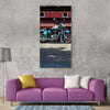 bike vehicle retro classic vintage Vertical Canvas Wall Art