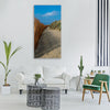 blue beach landscape costa Vertical Canvas Wall Art