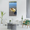 boat coast fishing nautical marine Vertical Canvas Wall Art
