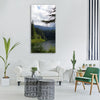 clear lake slovakia water forest Vertical Canvas Wall Art
