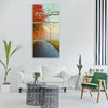 colorful leaves fall foliage yellow Vertical Canvas Wall Art