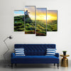 Love Is In The Air During Sunset In Iceland Multi Panel Canvas Wall Art