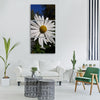daisy white autumn Vertical Canvas Wall Art