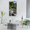 dd storm forest green streaming Vertical Canvas Wall Art