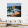 Dramatic Beautiful 12 Apostles In Australia Multi Panel Canvas Wall Art 4 Square / Small / Gallery Wrap Tiaracle