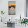 fall atumn sunset road grey Vertical Canvas Wall Art