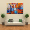 An Autumn Park With A Leafy Path Multi Panel Canvas Wall Art Set
