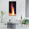 fire winterm warmth hot Vertical Canvas Wall Art