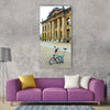Folding bike bike bicycle brompton Vertical Canvas Wall Art