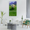 grass nature outdoors summer field Vertical Canvas Wall Art