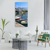 Greece sisi sissi crete fishing Vertical Canvas Wall Art