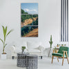 green grass trees plant nature Vertical Canvas Wall Art