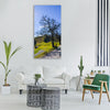 hiking mountain meadow tree rest Vertical Canvas Wall Art