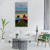 kayak beach tropical Vertical Canvas Wall Art