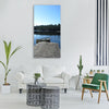 lake peaceful nature victoria Vertical Canvas Wall Art