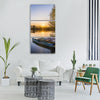 lake water boats beautiful lonely Vertical Canvas Wall Art