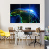 Africa From The Outer Space Multi Panel Canvas Wall Art