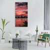 landscape sunset clouds sky sun Vertical Canvas Wall Art