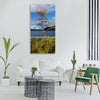 lapland finnish nature autumn Vertical Canvas Wall Art