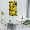 lemons yellow sour citrus fruits Vertical Canvas Wall Art