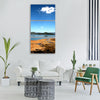 lugu lake autumn plateau Vertical Canvas Wall Art