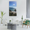 malaga summer beach sea Vertical Canvas Wall Art