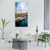 Malta marsaxlokk boat fishing Vertical Canvas Wall Art