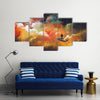 Space As An Abstract Illustration Multi Panel  Canvas Wall Art