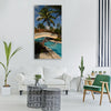 mexico vacations cancun pool Vertical Canvas Wall Art
