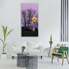 moon full moon moonrise evening Vertical Canvas Wall Art