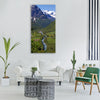 norway fjordlandschaft river Vertical Canvas Wall Art