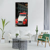 old car citroen orange white Vertical Canvas Wall Art
