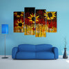 Oil Painted Sunflowers Multi Panel Canvas Wall Art Set